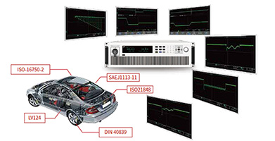 Built-in voltage curves for a variety of standard automotive voltage curves