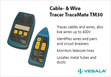 Cable and wire tracer TraceMate TM30