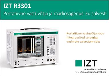 IZT R3301 Portatiivne vastuvõtja ja raadiosagedusliku salvesti