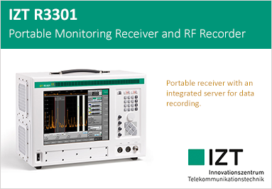 IZT R3301 Portable Monitoring Receiver and RF Recorder